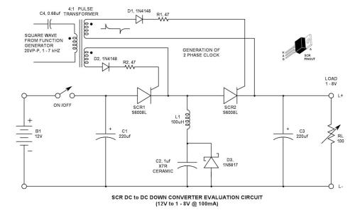 small resolution of scr dc to dc converter evaluation circuit