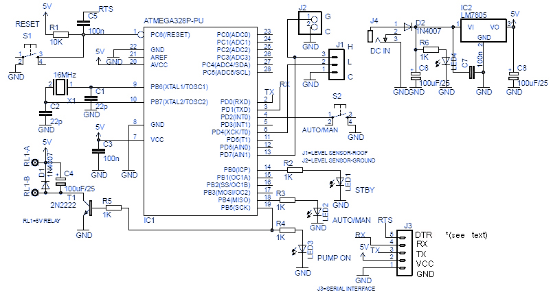 dual float switch wiring diagram saturn stereo arduino automatic water tank pump circuit
