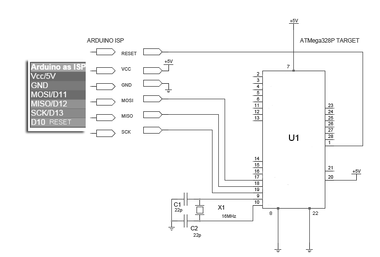 uno bootloader in circuit programmer 1