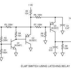 Wiring Diagram For Latching Relay Wu Tang Clan Venn Clap Switch Circuit Schematic