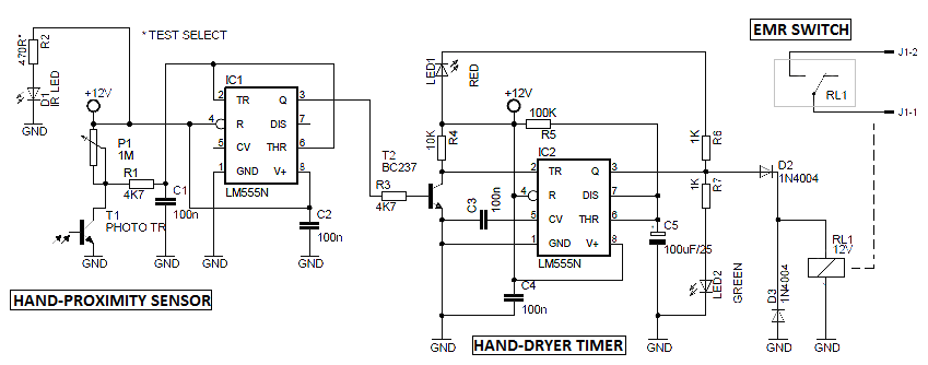 Timer Relay 120v Wiring Diagram Automatic Hand Dryer Circuit