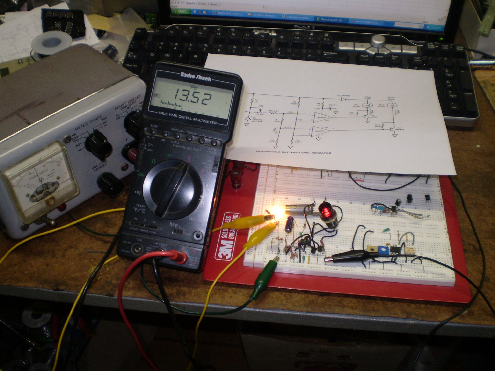 Battery Level Indicator Circuit Together With How Do Fluorescent Light