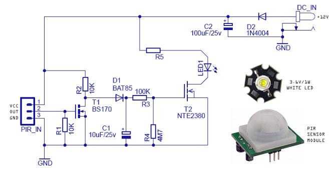 pir sensor light wiring diagram wiring diagram led security light wiring diagram image about