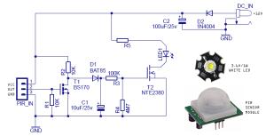 MotionSensing Security Light Circuit