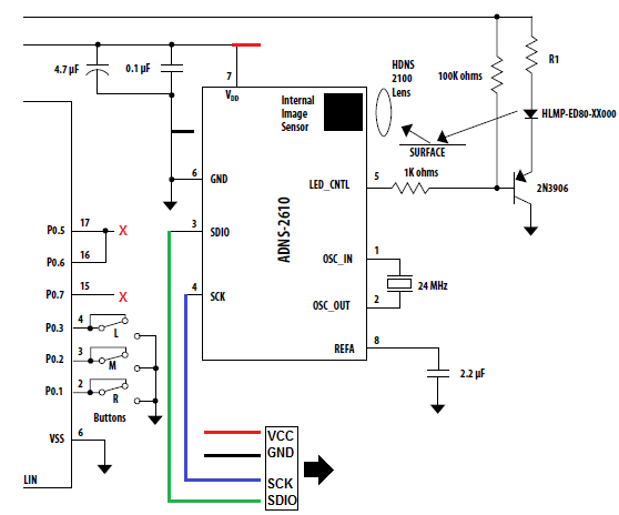 schematic diagram of computer components minn kota foot pedal wiring mouse optical learn to hack break down alteration the circuitry