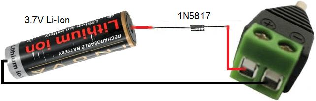 car battery wiring diagram weg motor diagrams 5v power bank with 3 7v li ion liion 1n5817