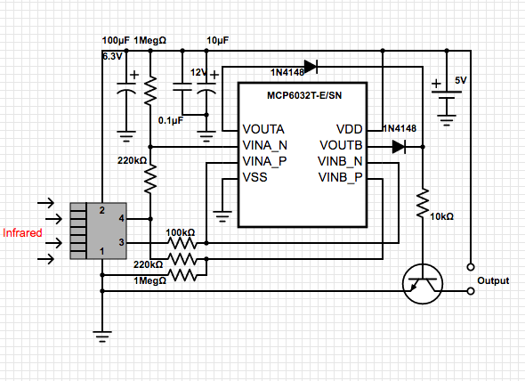 passive infrared detector circuit electronicslab