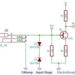 Guitar Output Jack Wiring Diagram 1976 Honda Ct70 Electrosmash 1wamp Electroc Amplifier Jfet Input Stage
