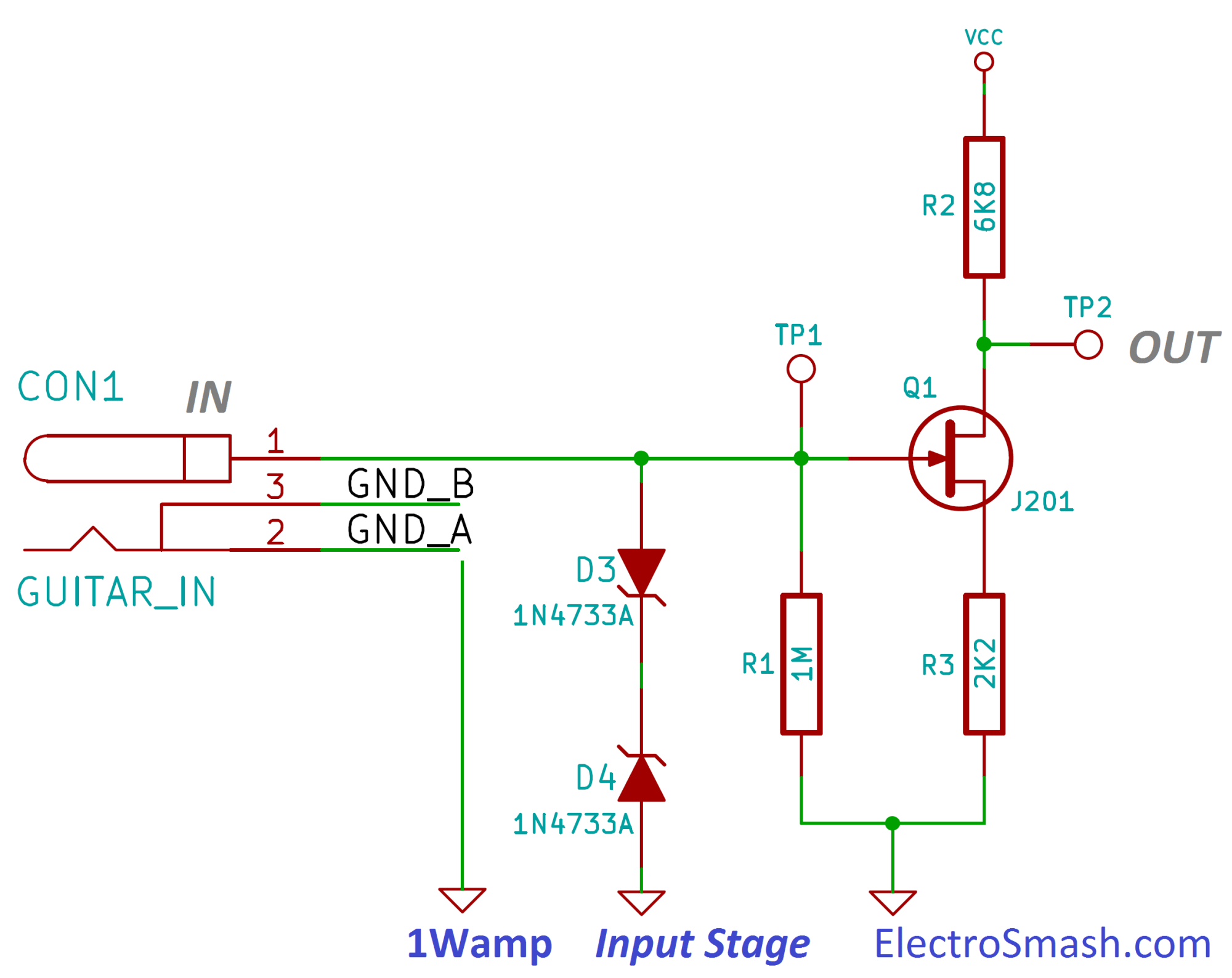 hight resolution of jfet input stage