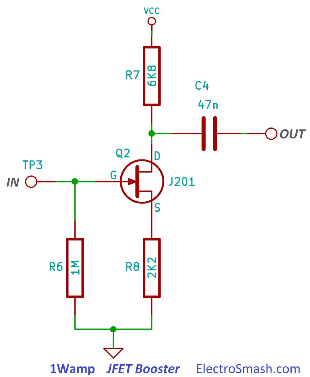 medium resolution of 1wamp jfet booster circuit