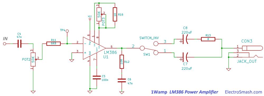 medium resolution of 1wamp lm386 power amplifier circuit
