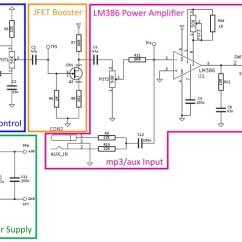 Guitar Output Jack Wiring Diagram Australian Trailer Plug Electrosmash 1wamp Electroc Amplifier Schematic Parts Blocks