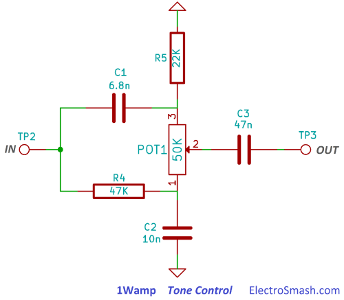 small resolution of 1wamp tone control circuit