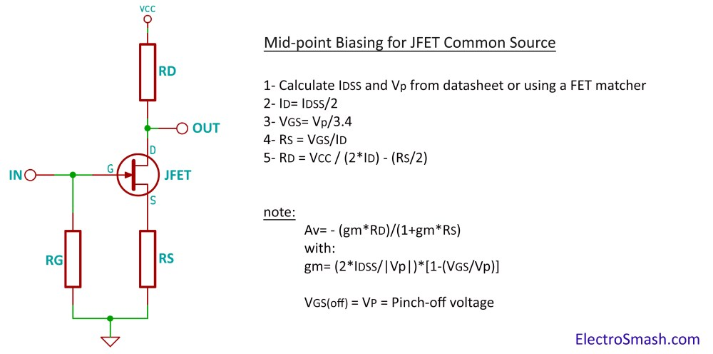 medium resolution of jfet amplifier calculation parameters