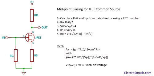 small resolution of jfet amplifier calculation parameters