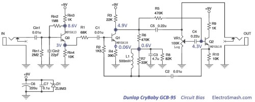 small resolution of dunlop cry baby wah gcb 95 bias