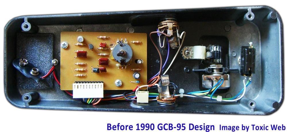 medium resolution of cry baby wah gcb 95 guts before1990