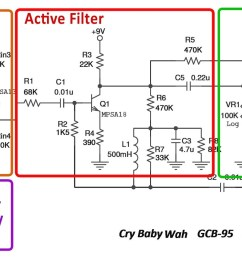 cry baby wah gcb 95 schematic parts small [ 1920 x 856 Pixel ]