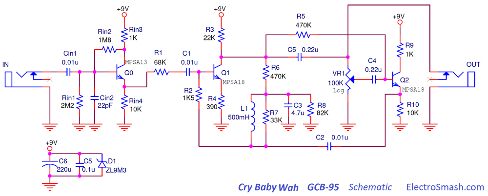medium resolution of the dunlop cry baby gcb 95 schematic