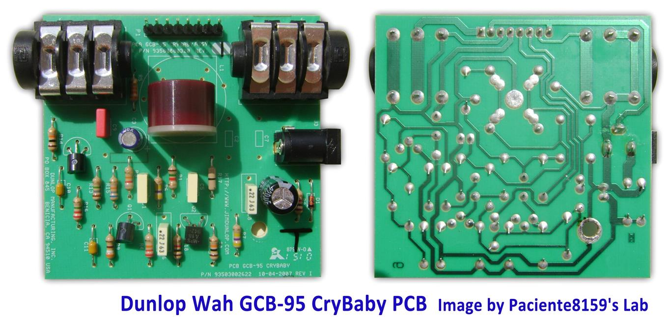 hight resolution of the dunlop cry baby gcb 95 circuit