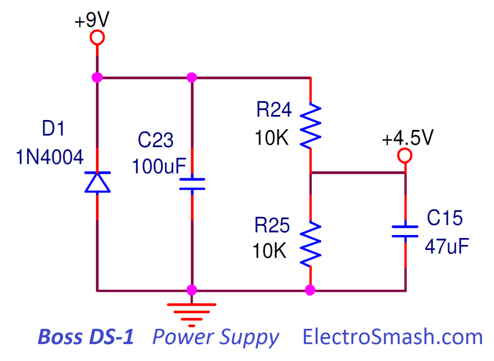 medium resolution of boss ds1 distortion power supply