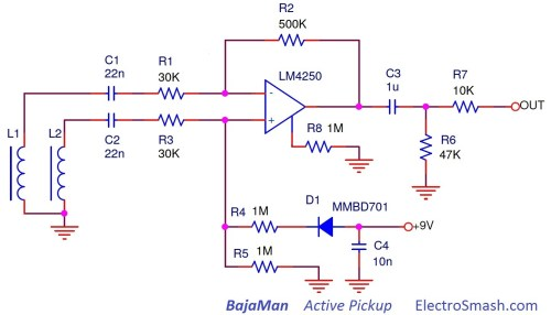 small resolution of  bajaman active pickup schematic