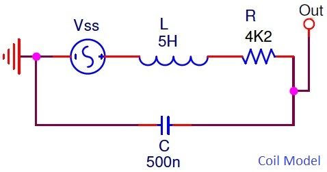 emg wiring diagram 5 way switch guitar pots electrosmash emg81 pickup analysis for this simulation the equivalent model of a coil is considered as r 4k2 l 5h and c 500pf it shown in above graph purple color isolated