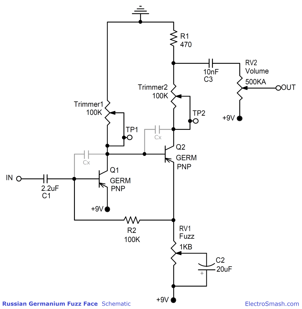 medium resolution of fuzz face schematic pnp wiring diagram show electrosmash you can build the perfect germanium fuzz face