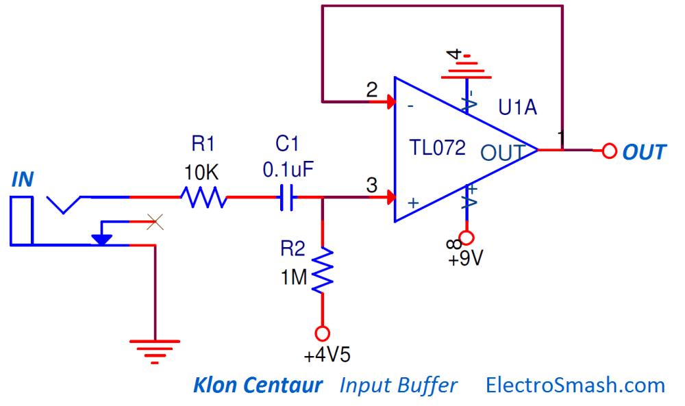 medium resolution of klon centaur input buffer