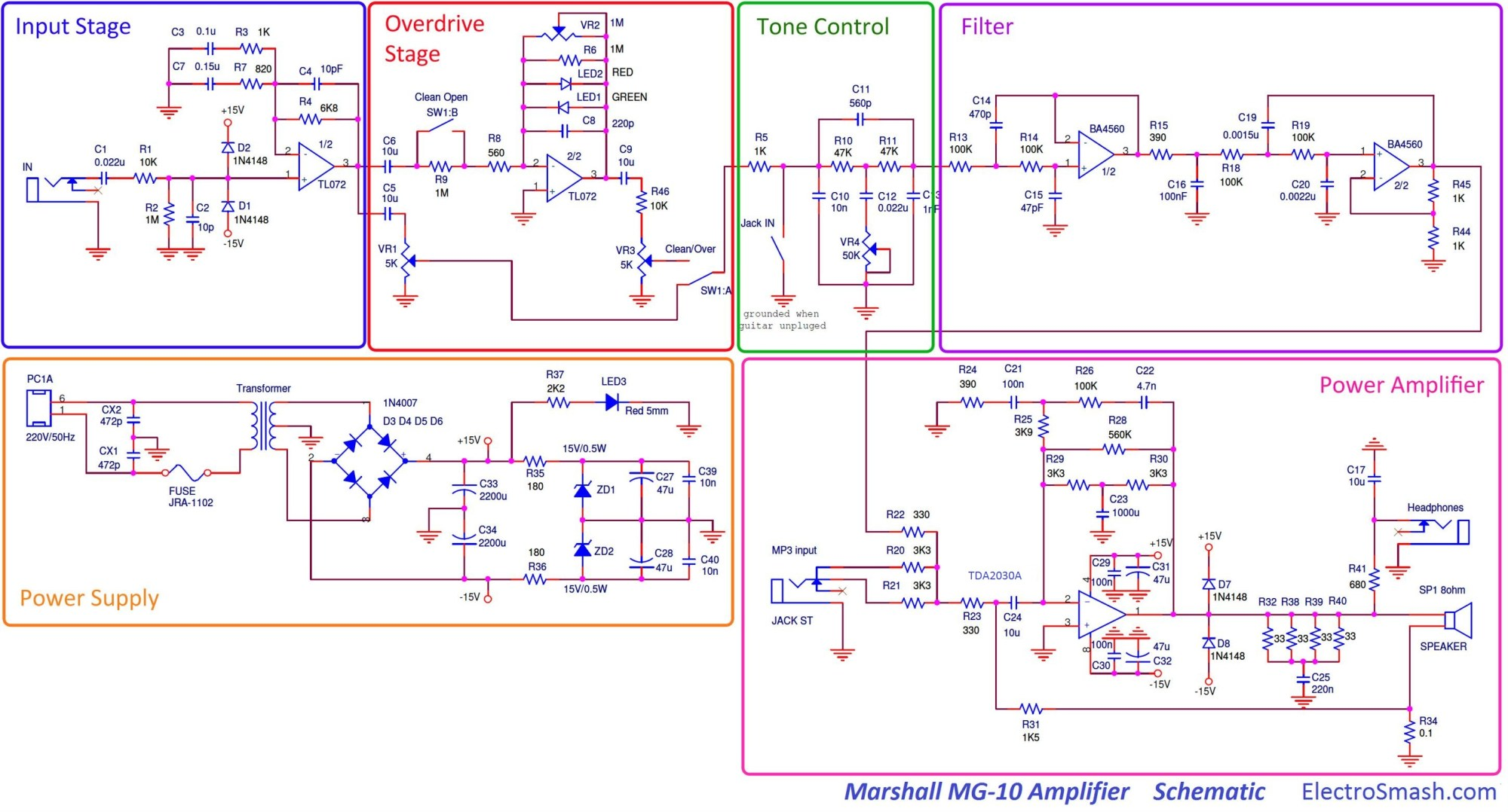 hight resolution of marshall mg10 schematic parts