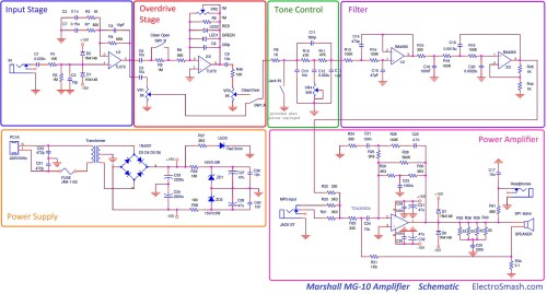small resolution of marshall mg10 schematic parts