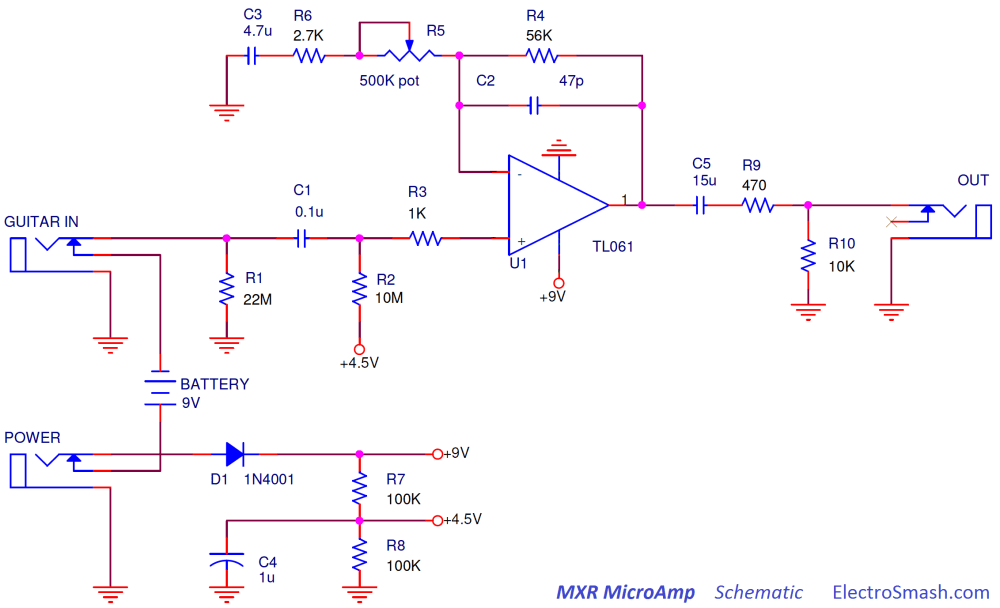 medium resolution of mxr microamp schematic