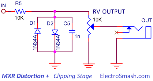 small resolution of mxr distortion clippling stage