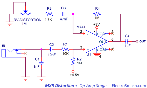 small resolution of 1 2 op amp amplifier stage
