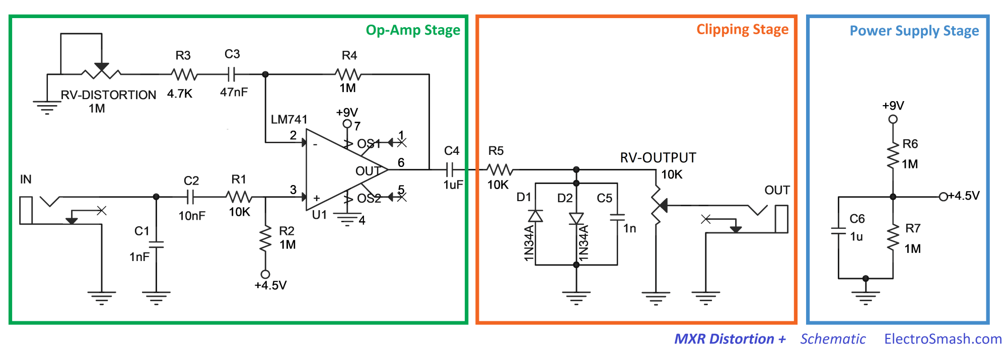 hight resolution of rat distortion pedal schematic as well guitar volume pedal wiring distortion pedal schematics wiring diagram load