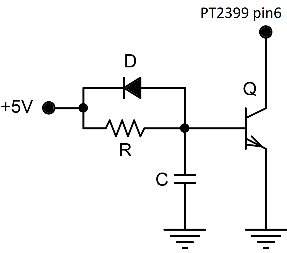 medium resolution of pt2399 latch up circuit