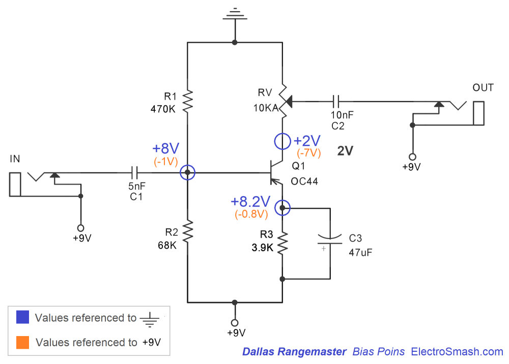 medium resolution of electrosmash dallas rangemaster treble booster circuit analysis treble booster schematic is a lovely treble booster