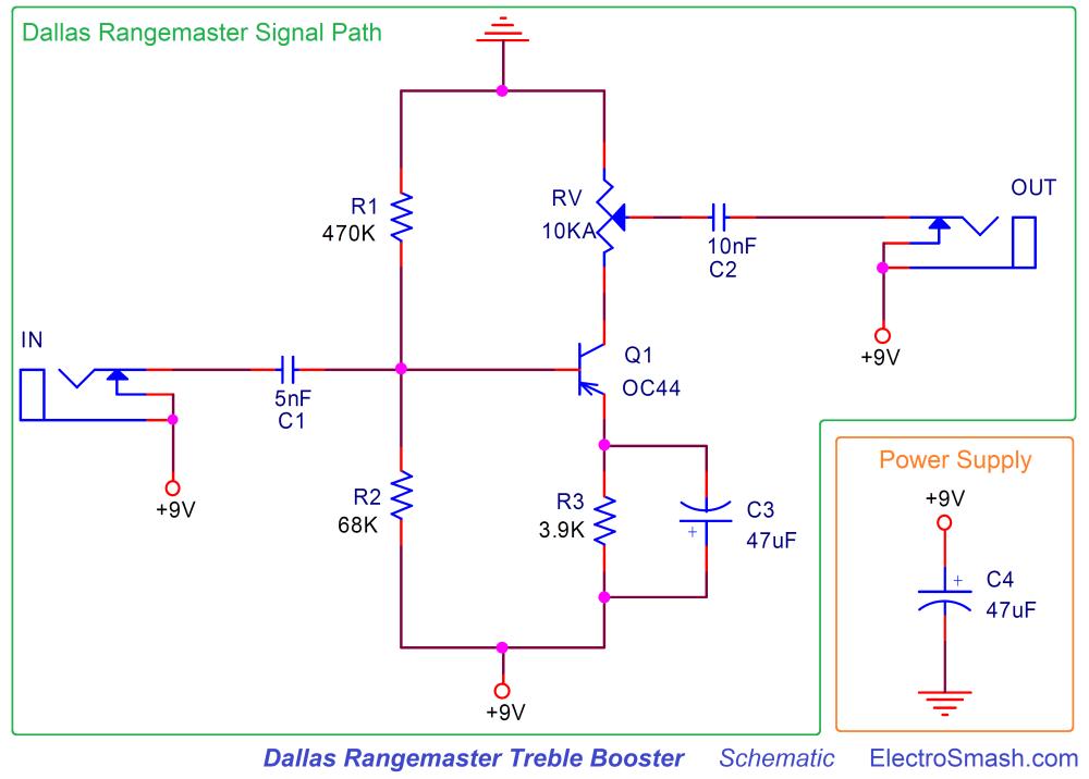 medium resolution of electrosmash dallas rangemaster treble booster circuit analysis dallas rangemaster schematic parts