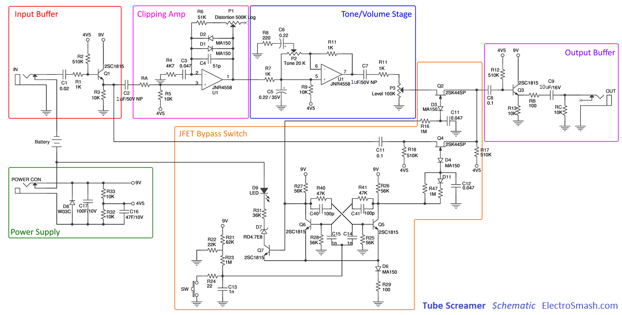 hight resolution of tube screamer block diagram
