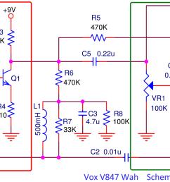 electrosmash vox v847 analysis vox wah pedal wiring diagram the vox v847 circuit [ 2048 x 894 Pixel ]