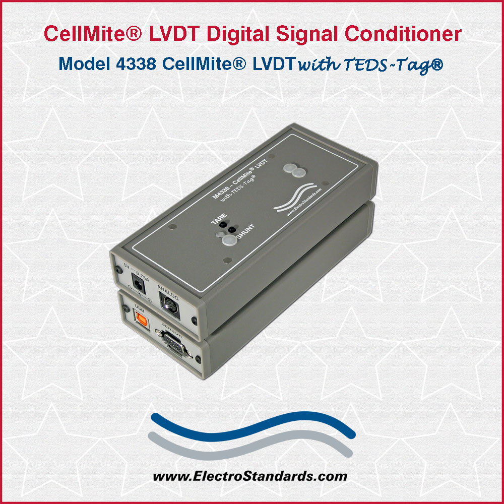 hight resolution of 304338 4338 cellmite lvdt ac excitation single channel digital signal conditioner
