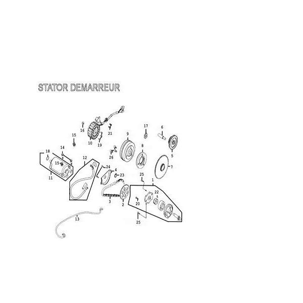 Alternateur Stator D406 Kymco 300 MXU