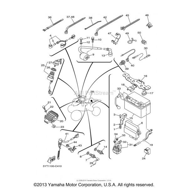 Faisceau Electrique Yamaha 350 Raptor 5YT-82590-00-00