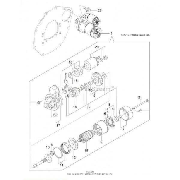 Starter Motor Polaris Ranger 900 Diesel 3070309