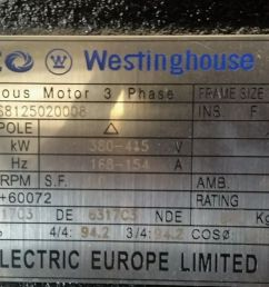 teco westinghouse 90kw 3 phase electric motor 1500rpm 4 pole [ 1440 x 810 Pixel ]