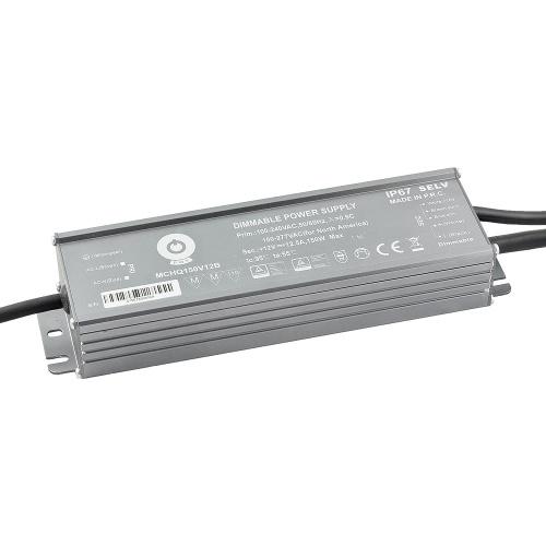 Zasilacz napięciowy z DIMM 3w1 hermetyczny IP67 – 12V 150W 12.5A MCHQ150V12B - Zasilacze napięciowe z dimmingiem (3w1) POS - ELED