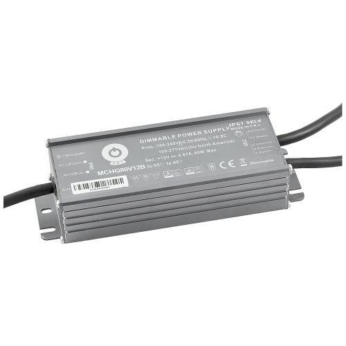 Zasilacz napięciowy z DIMM 3w1 hermetyczny IP67 - 12V 80W 6.67A MCHQ80V12B - Zasilacze napięciowe z dimmingiem (3w1) POS - ELED