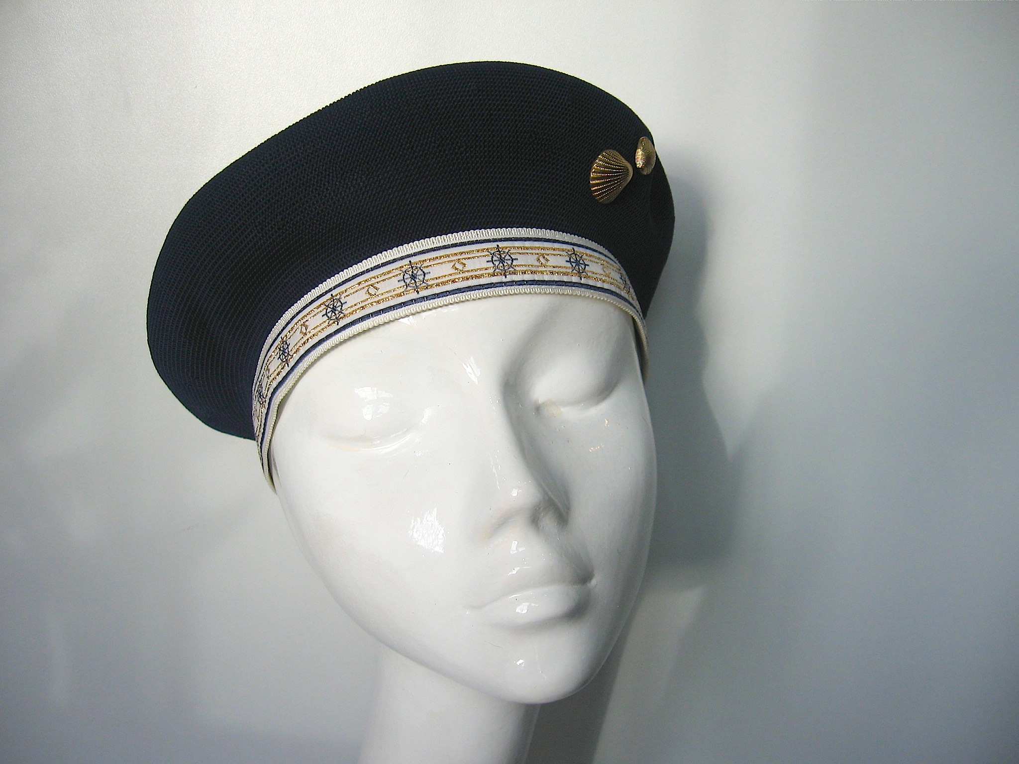 Kangol Navy Beret With Shell Detail Races Hats Wedding