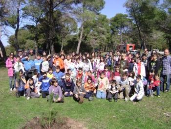 Μαθητές φύτεψαν δέντρα στην Ελαία