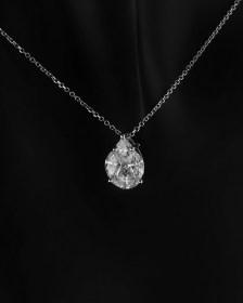 Κρεμαστό λευκόχρυσο Κ18 με Διαμάντια